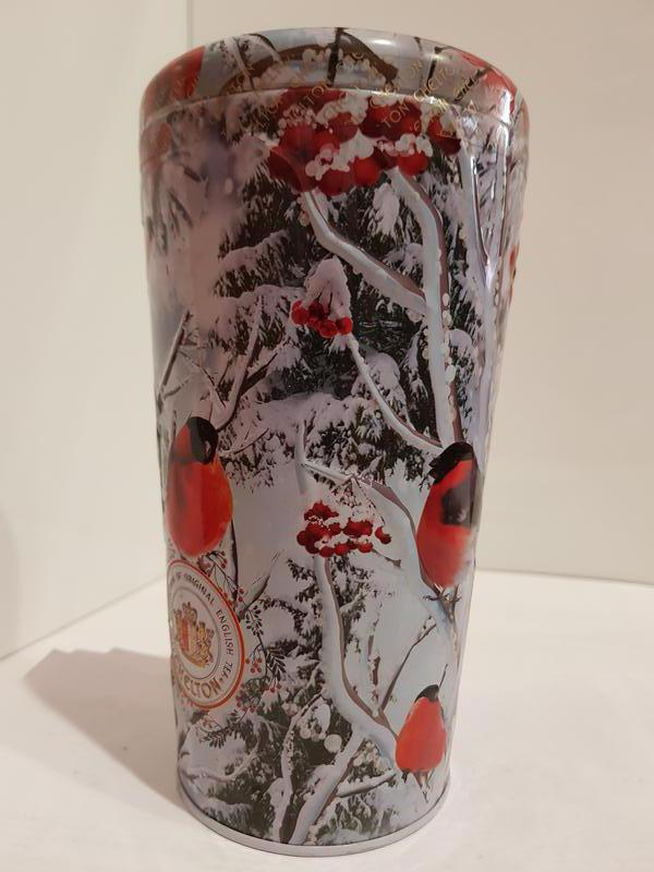 Подарочный чай Челтон Chelton Ваза Bullfinches Снегири 100г