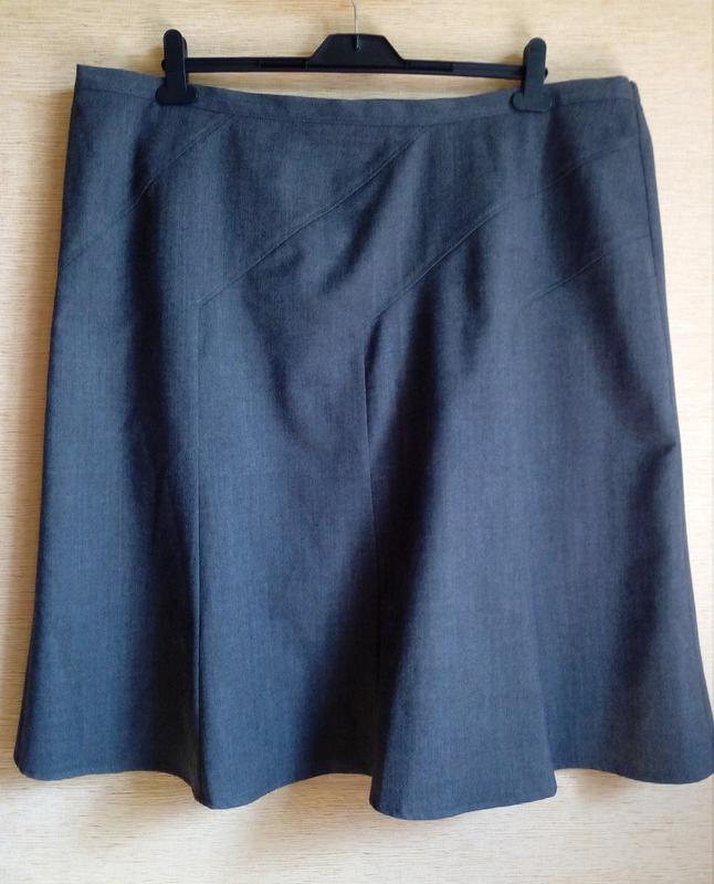 Шерстяная юбка трапеция, годе, восьмиклинка  на 60/62 размер