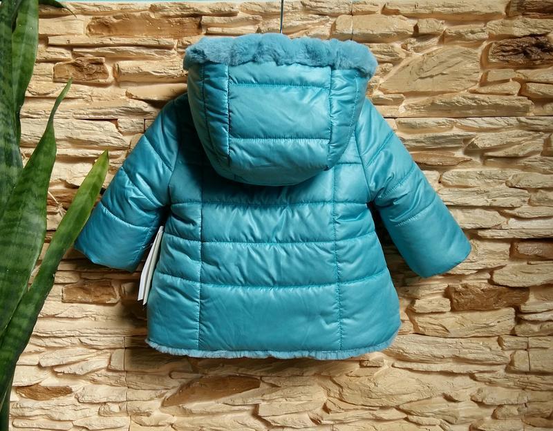 Двусторонняя курточка-шубка/еврозима mayoral (испания) на 6 ме... - Фото 9