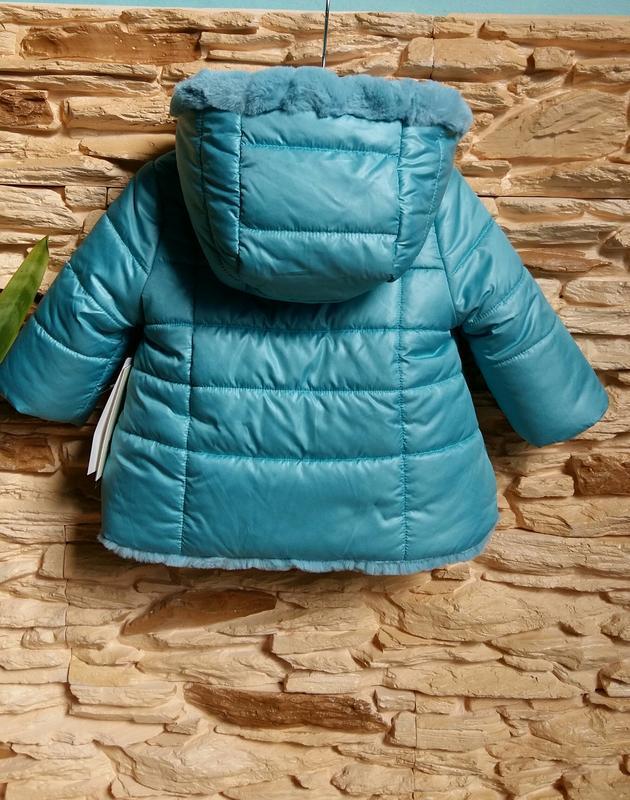 Двусторонняя курточка-шубка/еврозима mayoral (испания) на 6 ме... - Фото 10