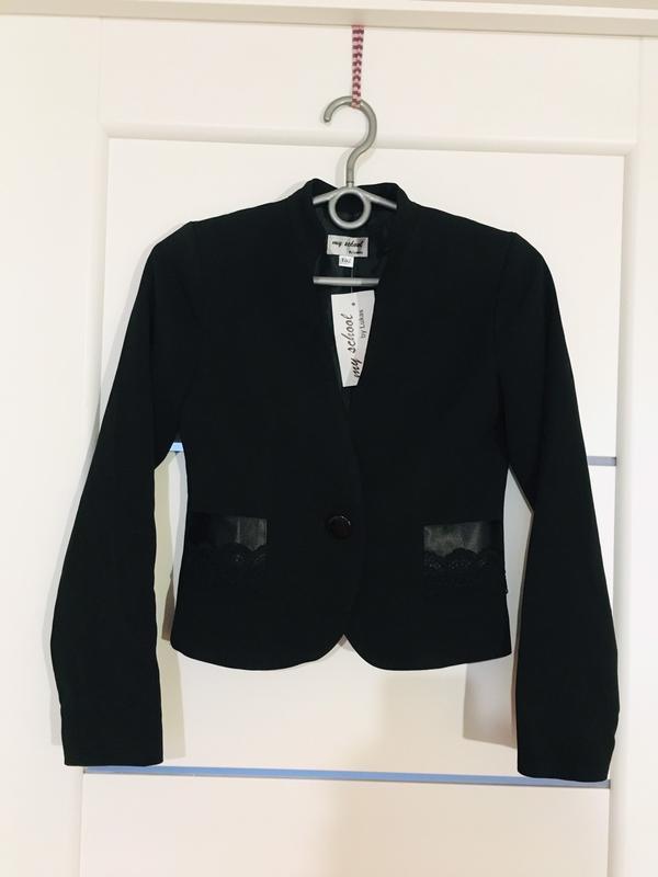 Школьный пиджак жакет для девочки тм lukas