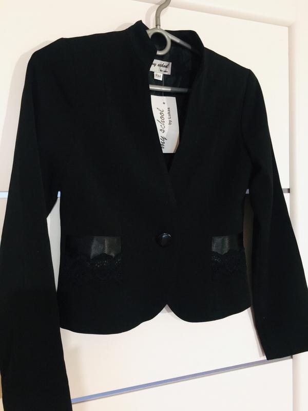 Школьный пиджак жакет для девочки тм lukas - Фото 2