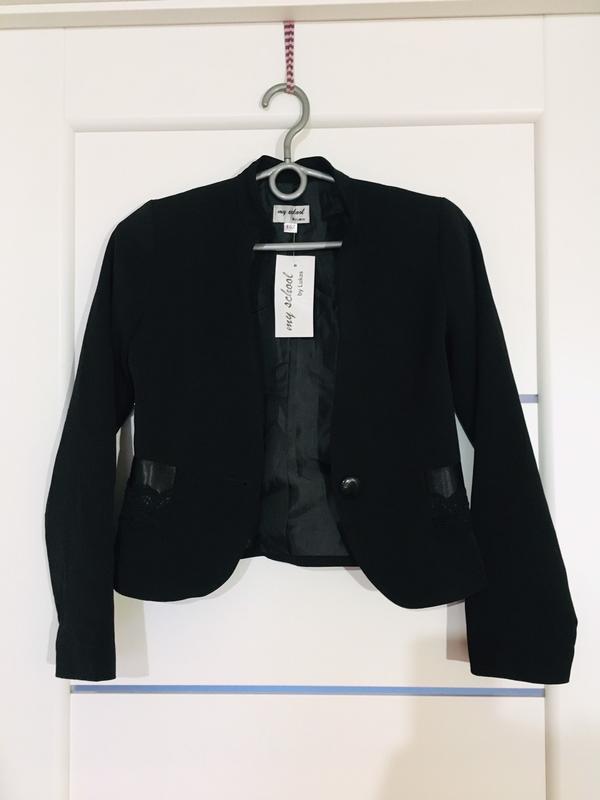 Школьный пиджак жакет для девочки тм lukas - Фото 4