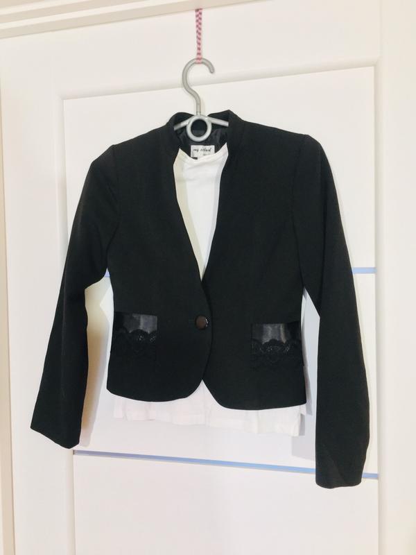 Школьный пиджак жакет для девочки тм lukas - Фото 5