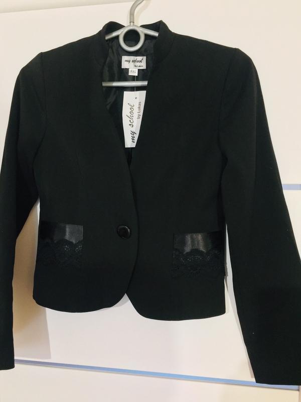Школьный пиджак жакет для девочки тм lukas - Фото 7