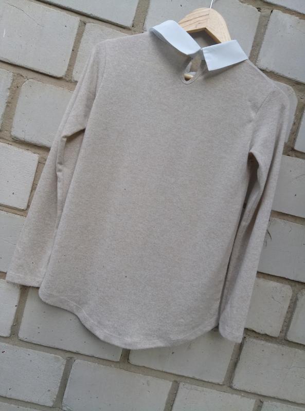 Нежный свитерок с перлинами спереди раз. xl - Фото 5