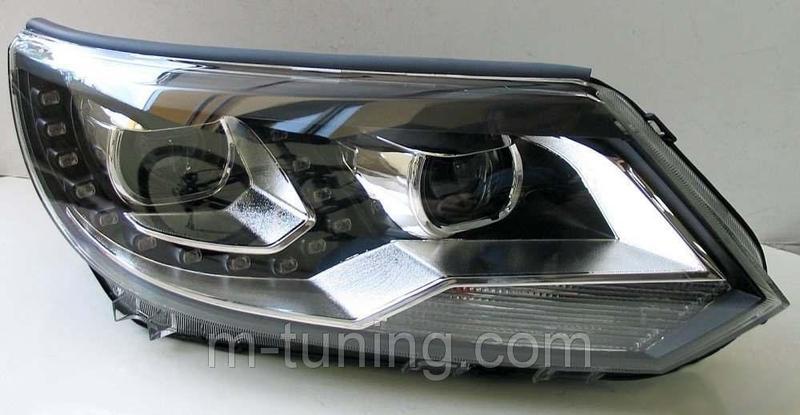 Передние фары Led тюнинг оптика VW Tiguan 12-16 ксенон - Фото 7