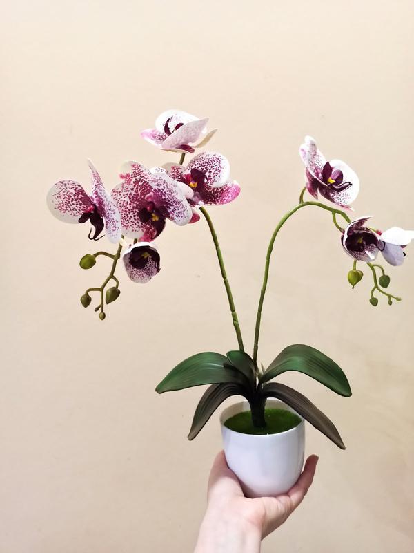 Орхидея искусственная латексная - Фото 10