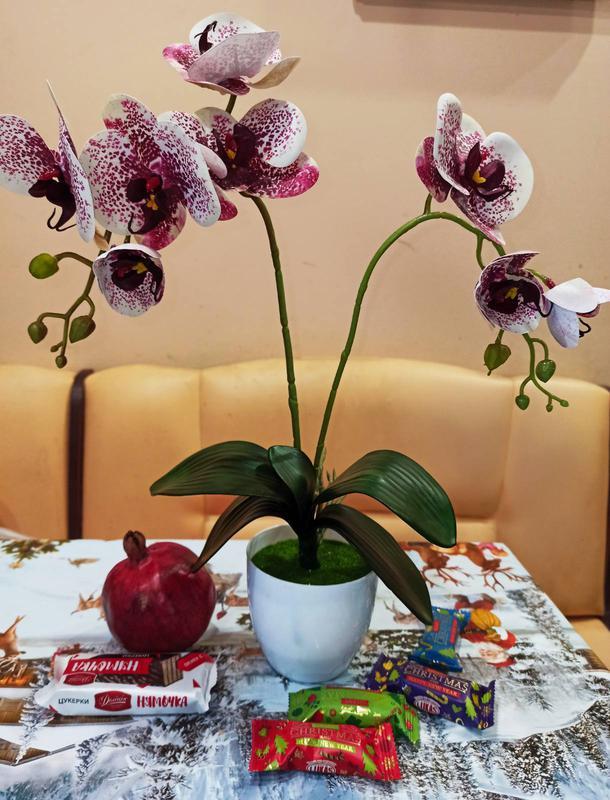 Орхидея искусственная латексная - Фото 11