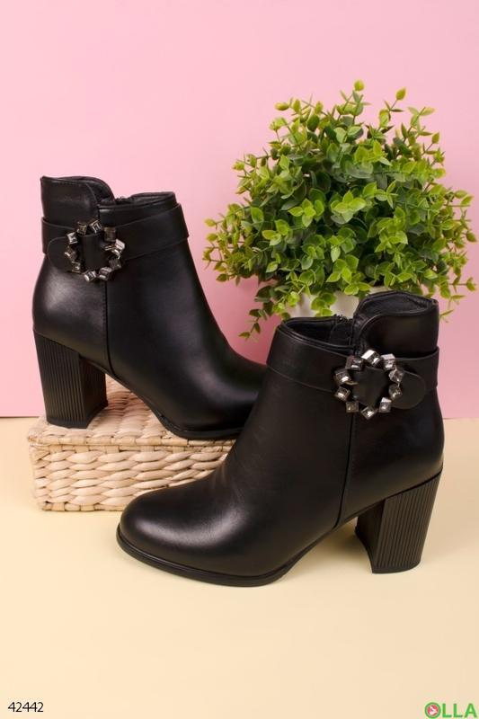 Женские ботинки на толстом каблуке - Фото 2
