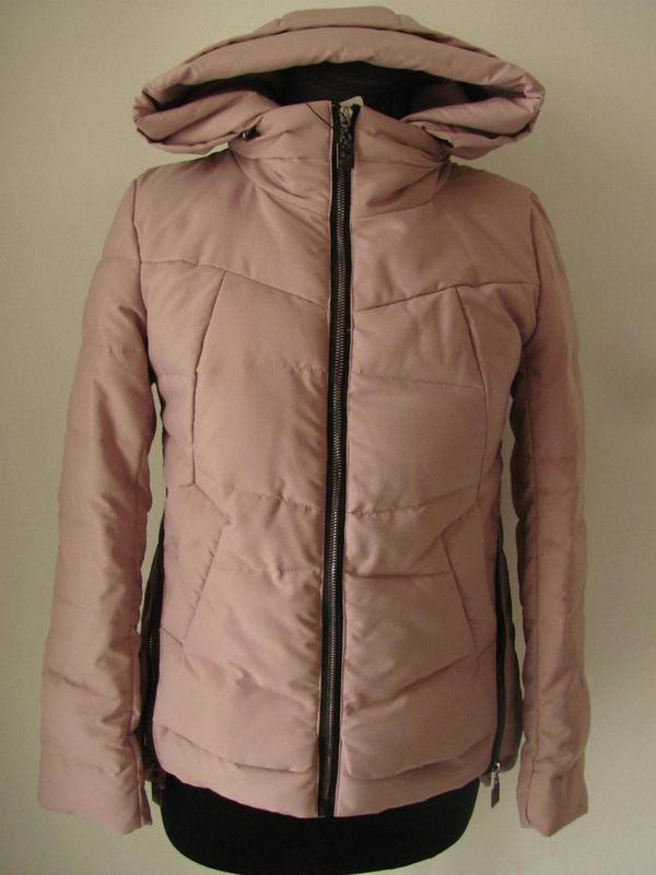 Куртка демисезонная с капюшоном на молнии  код 4578м