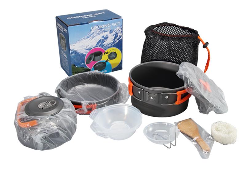 Набор туристической посуды HALIN Orange (1-3 человека) DS-308