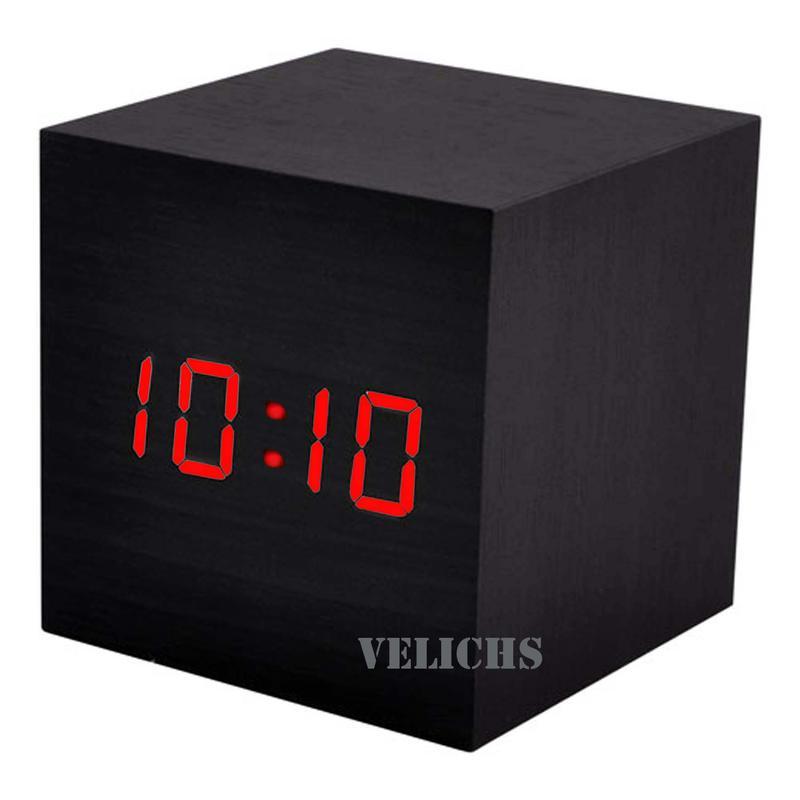 Электронные часы с календарем, термометром и будильниками VST-869