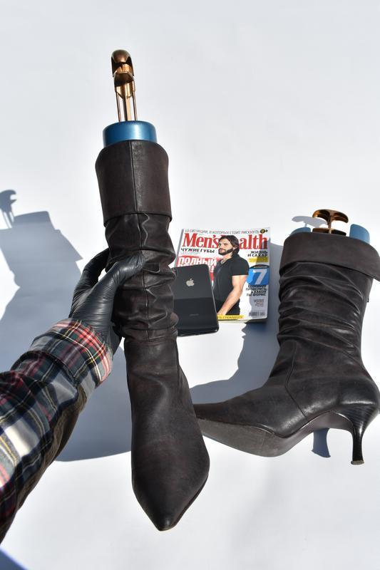 New look оригинал!! женские сапоги на утеплители  на осень кож... - Фото 4
