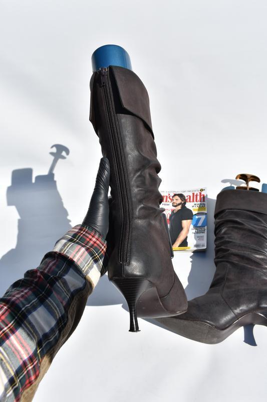 New look оригинал!! женские сапоги на утеплители  на осень кож... - Фото 5