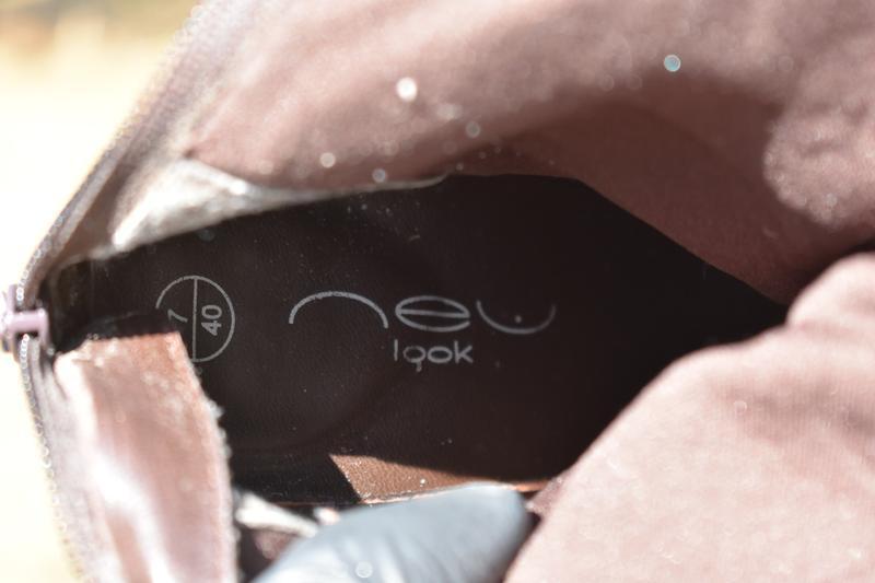 New look оригинал!! женские сапоги на утеплители  на осень кож... - Фото 9