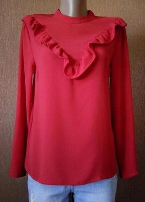 Блузка с рюшами размер 8 new look