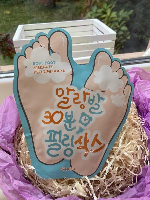 Пилинг-носочки a'pieu soft foot peeling socks