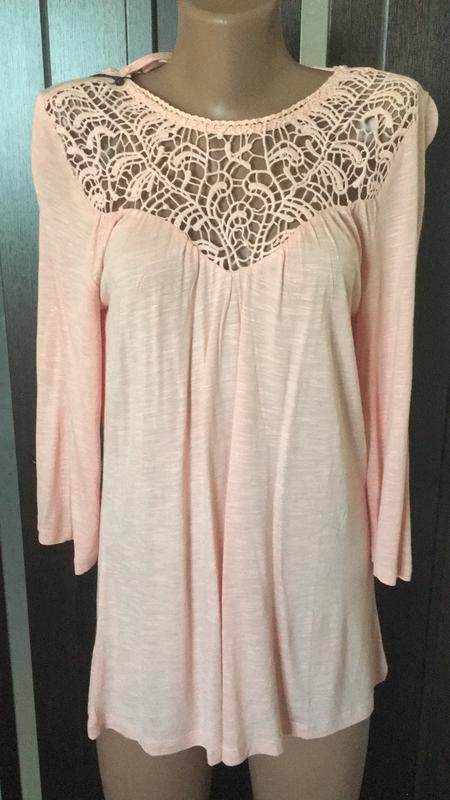 Блузка с ажурным верхом