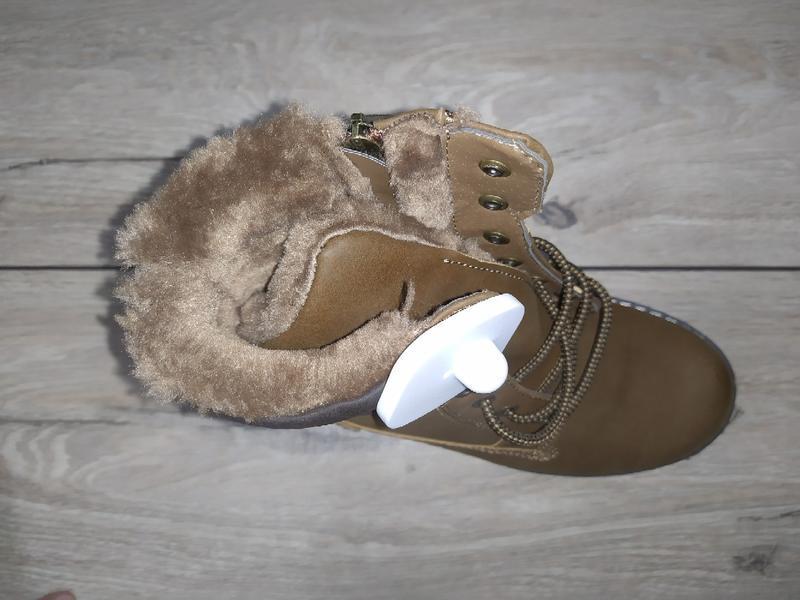 Зимние женские ботинки зима низкий ход жіночі полуботинки - Фото 2
