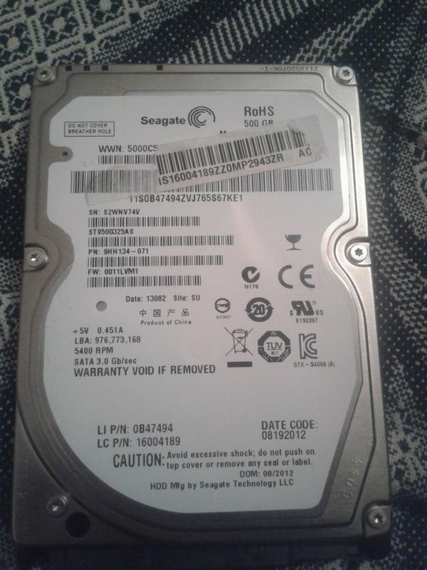 Жозткий диск Seagate на 500 GB