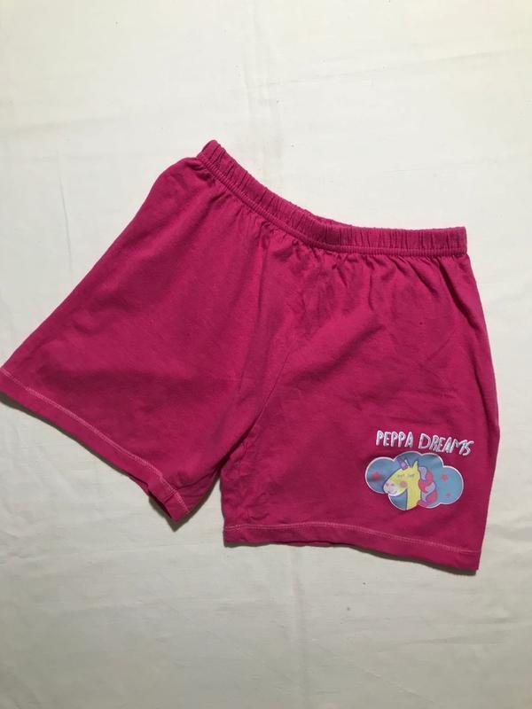 Детские шорты peppa ( пеппа 3-4 года 98-104 см оригинал розовые)