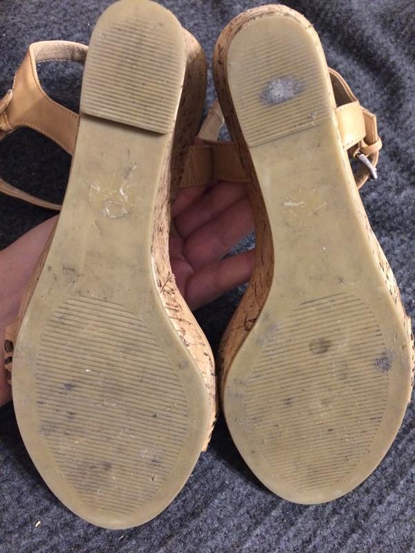 F&f босоножки сандали на танкетке платформе - Фото 5