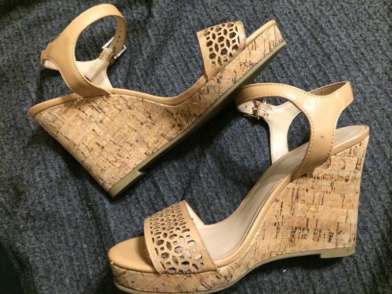 F&f босоножки сандали на танкетке платформе - Фото 9
