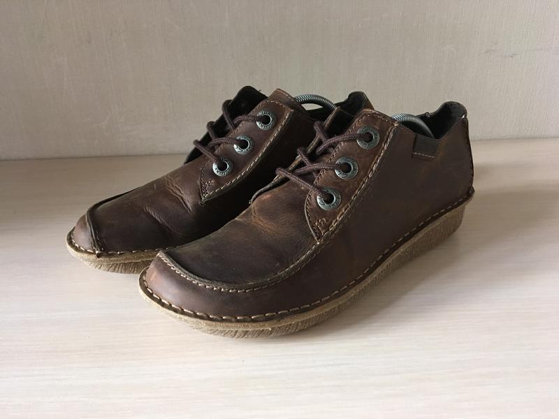 Кожаные мокасины clarks artisan оригинал туфли - Фото 3