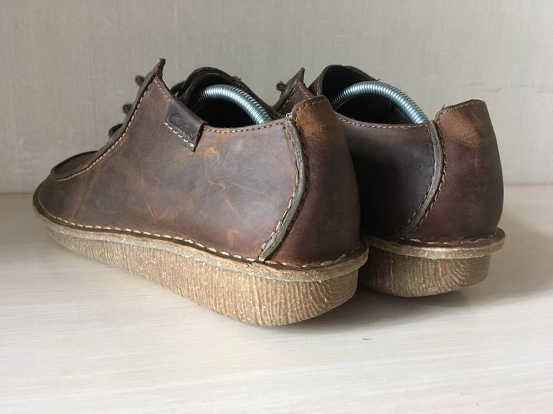 Кожаные мокасины clarks artisan оригинал туфли - Фото 4