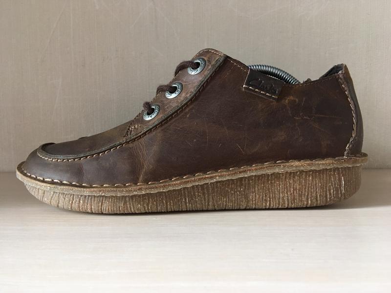 Кожаные мокасины clarks artisan оригинал туфли - Фото 6