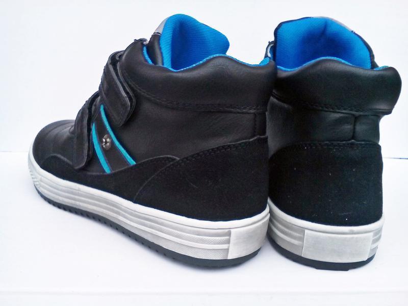 Демисезонные ботинки для мальчика на липучке. с.луч - Фото 5
