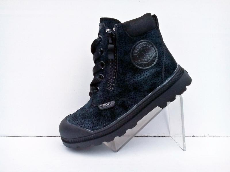 Демисезонные ботинки для мальчика на молнии и шнурках. jong golf