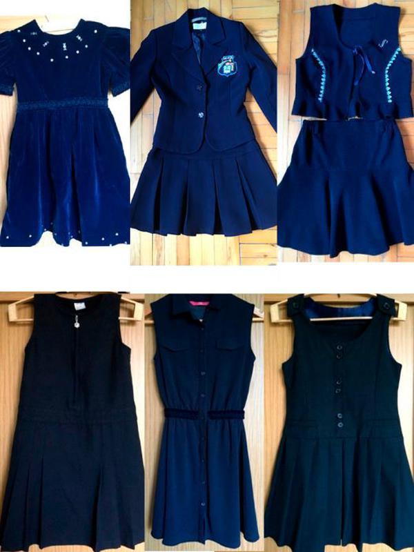 Школьный костюм, платье, сарафан, юбка, р 128-146