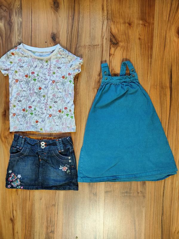 Комплект на девочку 2-3 года сарафан юбка футболка одним лотом