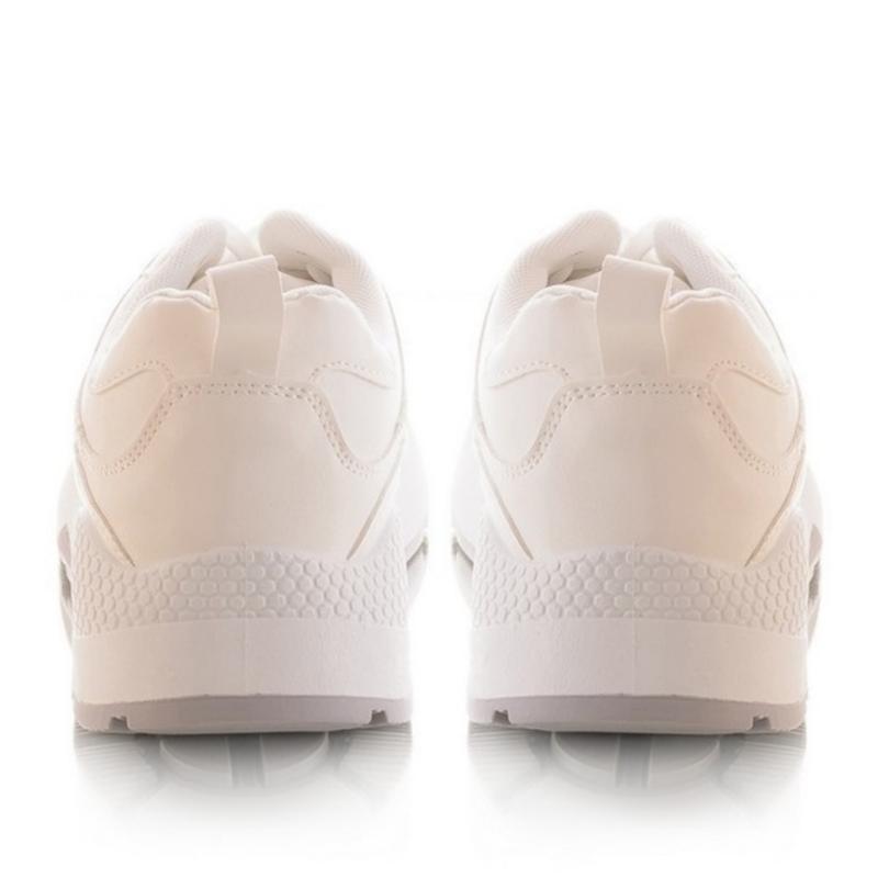 Мужские кроссовки молочного цвета - Фото 4
