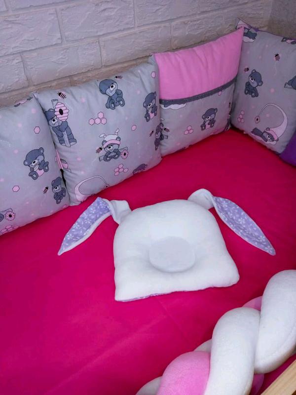 Набор бортиков в кроватку - Фото 4