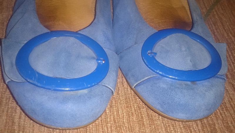 Стильні сині балетки замша р37,5 gabor - Фото 5