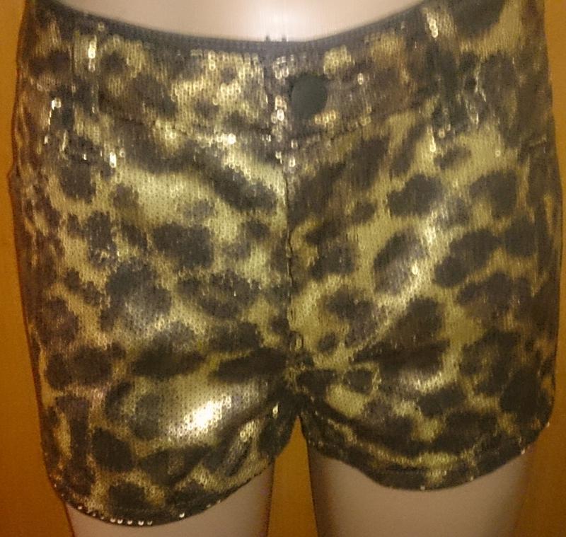 Стильниі шорти леопард паєтки р40 yes or no