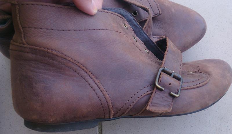 Коричневі черевики шкіра trf р39 шкіра