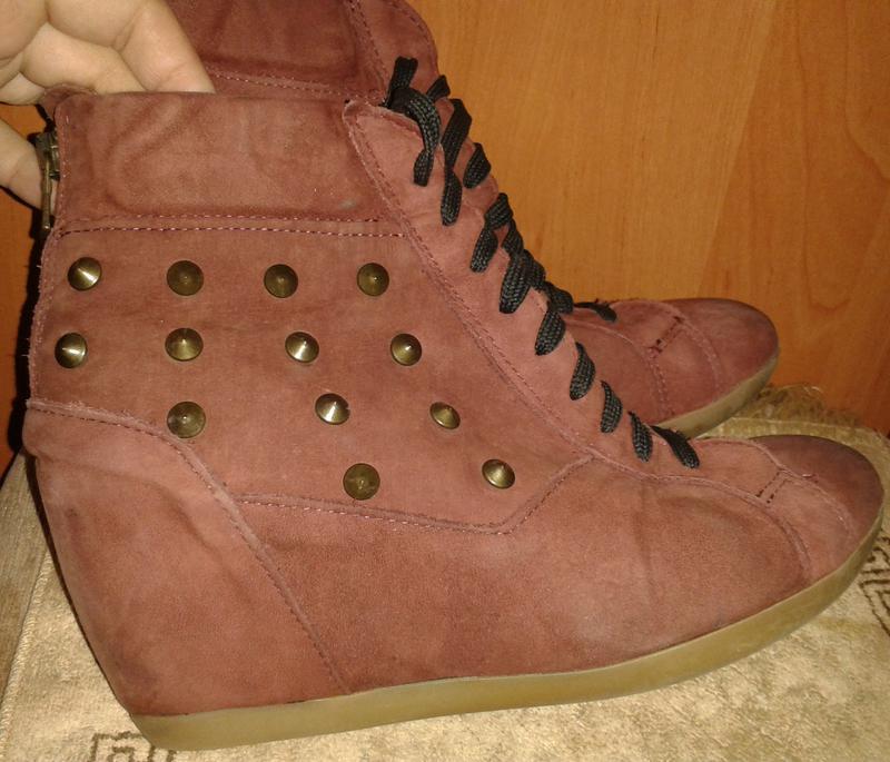 Бордові черевики замша р39 roberto santi
