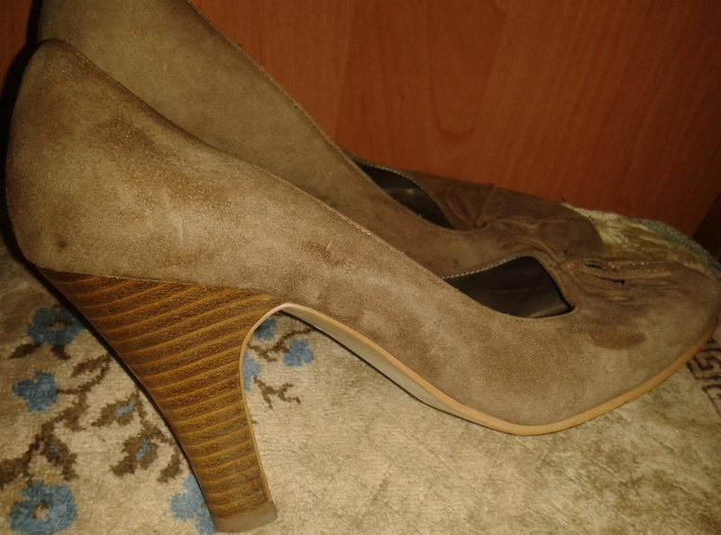 Коричневі туфлі замша р38 oasis