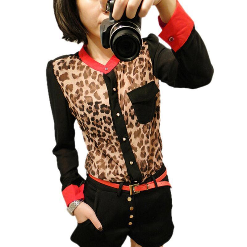 Стильна блуза леопард fancy cube м нова бірки