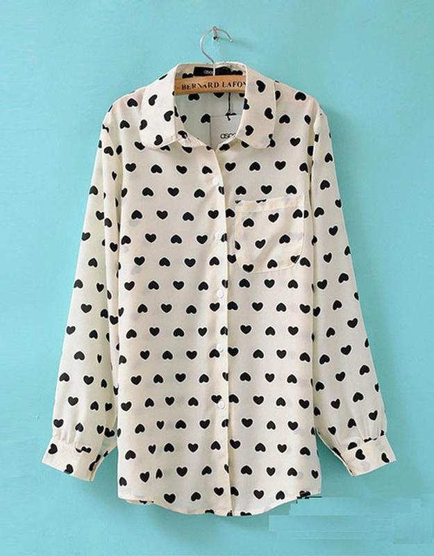 Стильна біла блуза в сердечка meno girl  s нова бірки