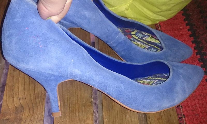 Стильні сині туфлі замша р39 next