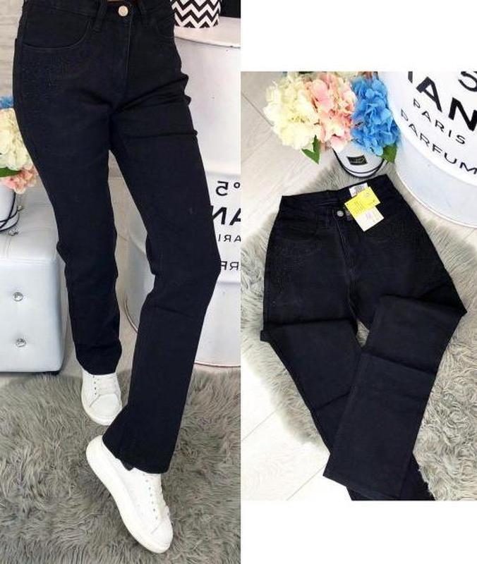 Чорні класичні джинси w33 w34 w36 w37 нові бірки lafeidina