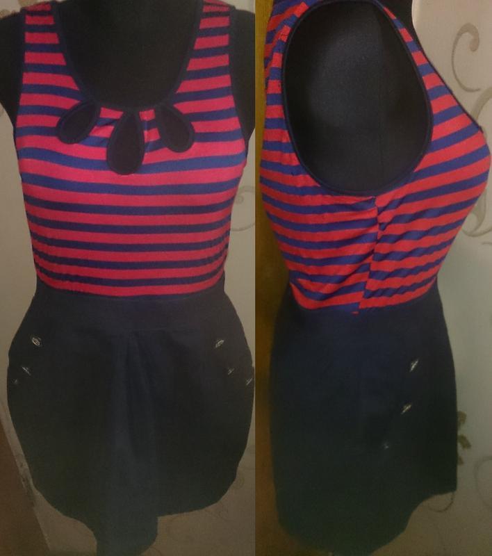 Легка сукня полоска р42 tg нова бірки