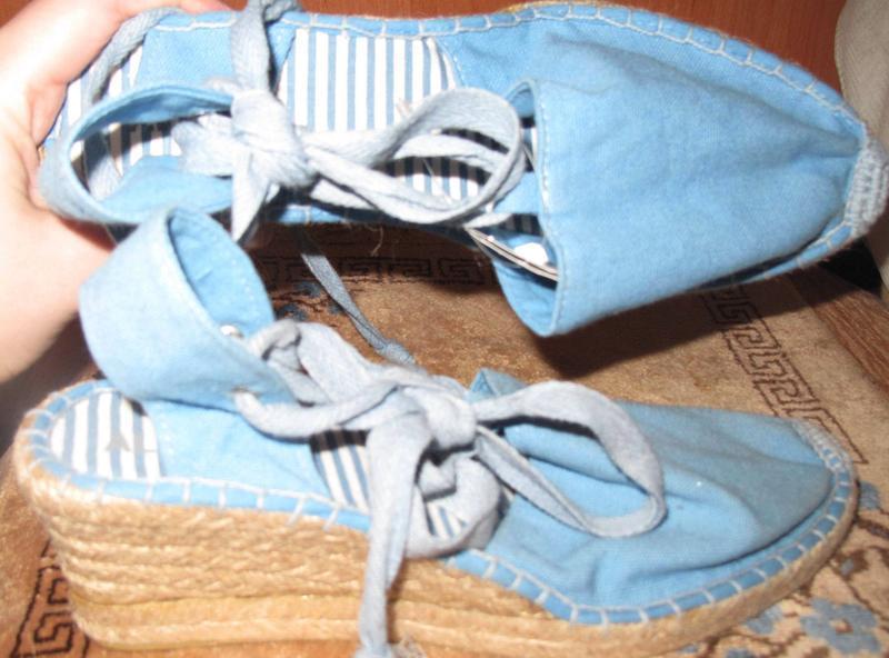 Сині плетені босоніжки ale hop р40 нові бірки