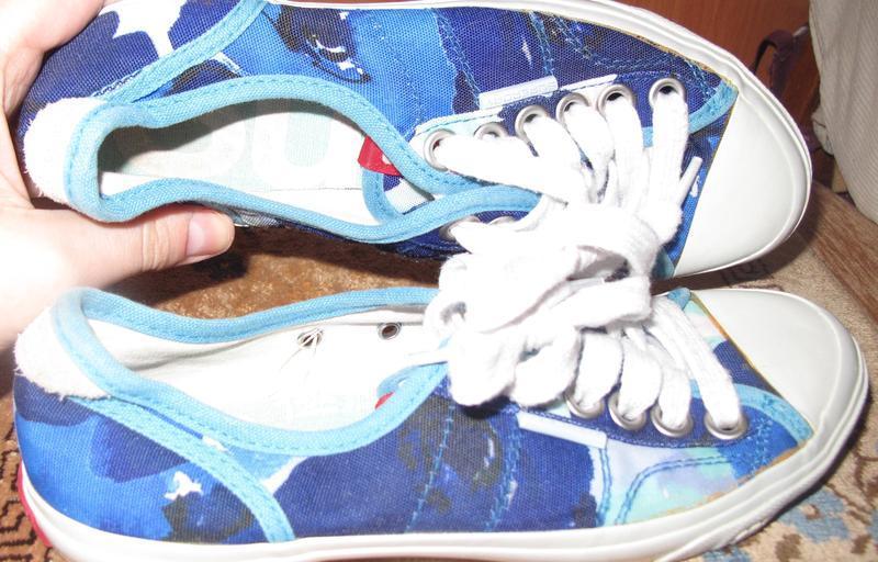 Голубі кеди р37 superdry текстиль