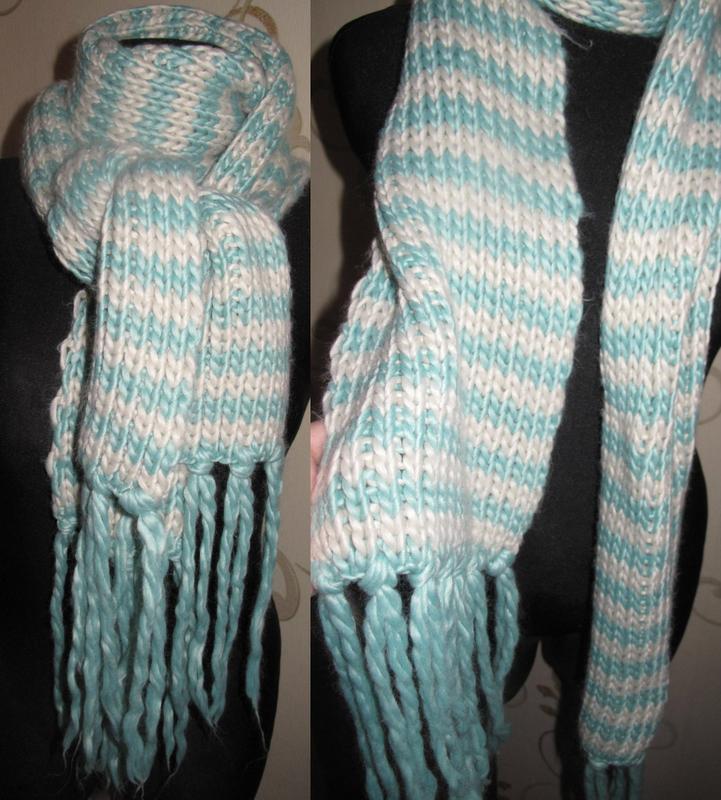 Стильний бірюзовий шарф accesorize